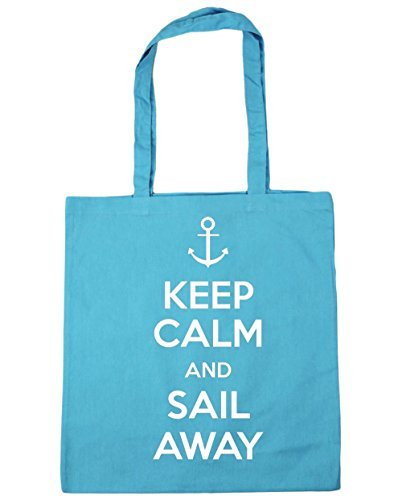 hippowarehouse-keep-calm-and-sail-away-tote-shopping-gym-beach-bag-42cm-x38cm-10-litres