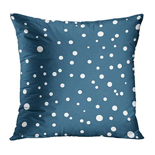 Xukmefat Blauer Abstrakter Polka-Punkt punktiert mit Kreisen rundet flachen skandinavischen Stil für Schrott-Reservierungs-Patchwork ab -
