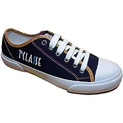 ALVIERO MARTINI Prima Classe Scarpe Donna Tela Blu Sneakers - 0377