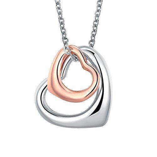 B.Z La Vie Corazón Sweet Love Colgante Collar de la mujer Hollow...