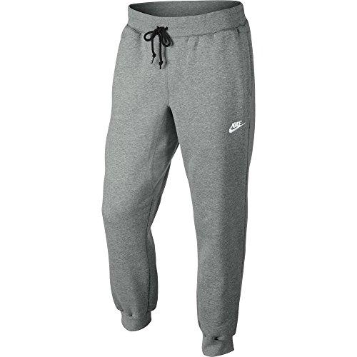 Nike Herren Hose AW77 Cuffed Fleece Dark Grey Heather/White