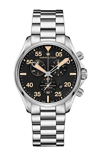HAMILTON Khaki Aviation Chrono Homme Montre en Acier H76722131