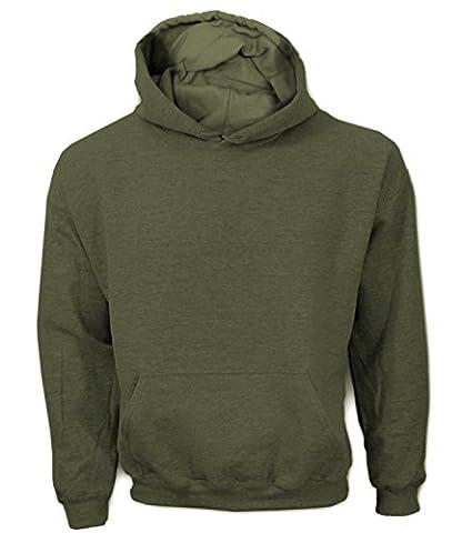 Artdiktat Herren Hoodie Rückenmotiv - CAPTAIN PIRATE SKULL WITH DAGGER Größe XXL, khaki