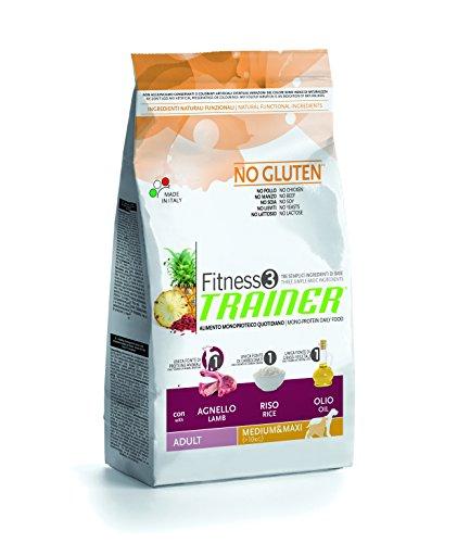 Novafoods Cibo per Cani Fitness 3 Adult Medium Maxi Lamb&Rice 12,5KG - 12500 gr