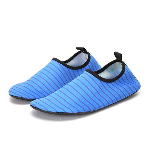 Herren Damen Badeschuhe Strandschuhe Wasserschuhe Aquaschuhe Schwimmschuhe Surfschuhe Yoga Barfuß Schuhe Schnell Trocken Surfen Schwimmen Schuhe für Damen Herren 35-46 Schwarz, Blau, Rosa, Grün TWBB