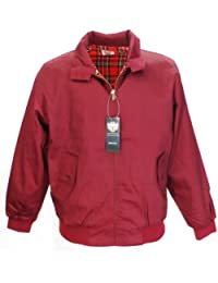 "classic retro mod harrington jackets (Xxxl-48""Chest, burgundy)"