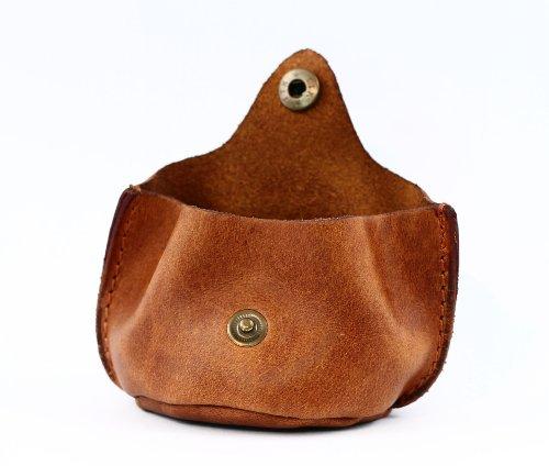 L'ESCARCELLE purse in soft leather, coin purse with snap closure, vintage style pouch PAUL MARIUS Vintage & Retro