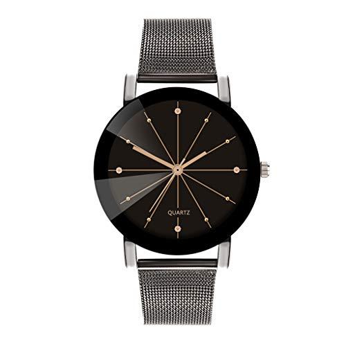 shion Luxury Analog Quarz-Armbanduhr mit Edelstahlarmband(C,Einheitsgröße) ()