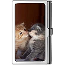 Porta tarjeta de visita con diseño, caja de crédito con nombre de cartera de acero
