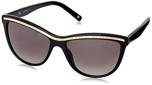 Escada Damen Groß Sonnenbrille, Gr. One Size, Shiny Black Frame / Smoke Gradient Lens