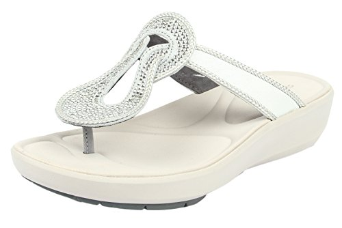 Clarks Women's Wave Glitz Silver Slippers - 4UK/India (37EU)