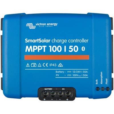 Victron SmartSolar MPPT Laderegler 100/50 12V / 24V Bluetooth Dongle integriert SCC110050210 50A Solarladeregler - 50a Anschlüsse