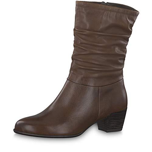 Tamaris Damen Stiefeletten 25339-23, Frauen Stiefel, feminin elegant Women\'s Women Woman Freizeit leger Boots reißverschluss,Cognac,37 EU / 4 UK