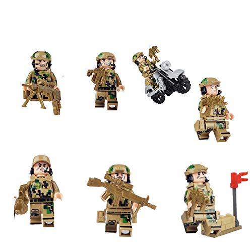 jEZmiSy Costruzioni, Bambini Mini Figure Militari Assemblaggio di Blocchi Giocattolo Educativo, Sviluppo intellettuale, educazione prescolare KY82015/0.7