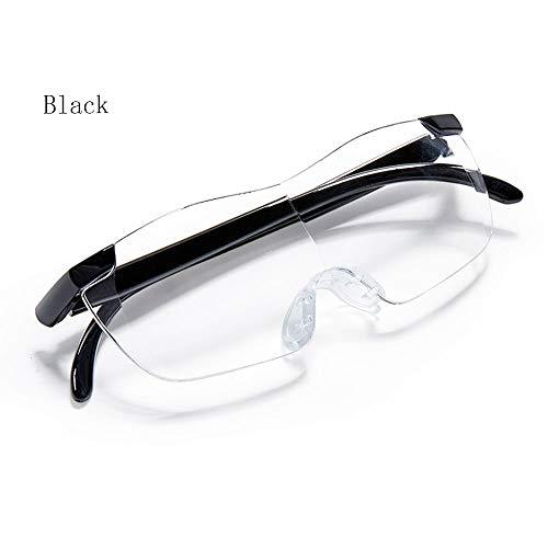 Tragbare Brillenart Hochauflösende Lupe 2X Um zu sehen, wie das Mobiltelefon ältere Personen mit Lesebrille liest 300 Grad (Color : PURPLE)