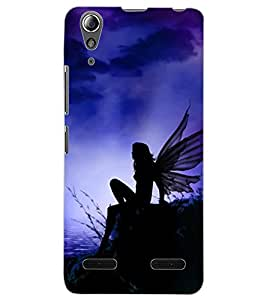 ColourCraft Angel Design Back Case Cover for LENOVO A6000 PLUS