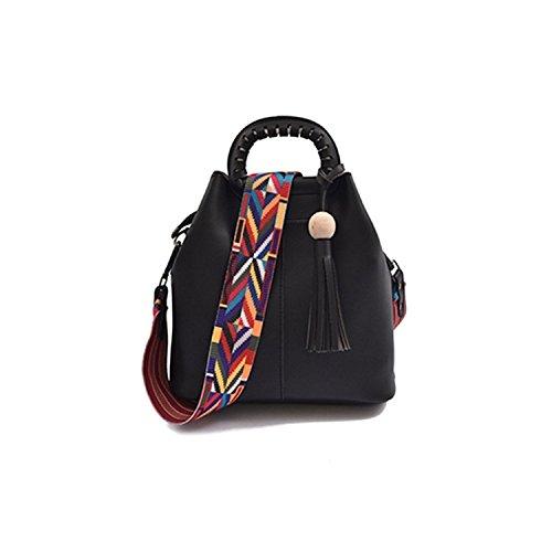 Bunt Schultergurt Längen Verstellbarer Breiter Tragegurt Taschengurt mit Karabiner für alle Schultertaschen und Handtaschen (80 -135 cm) H