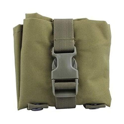 Tactical Assault Rucksack, reißfest, verstellbar, faltbar, für die Jagd, Taktische Magazine, Mag Dump Ammo Drop Pouch Utility Bag, taktische Tasche Free Size armee-grün
