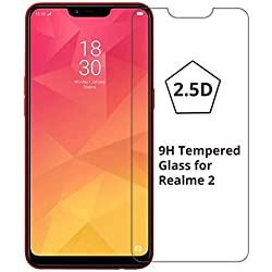MN 2.5D Perfect Fitting Ultra Clear Oppo Realme 2 Tempered Glass Screen Protector