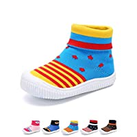 YUHUAWYH Baby Boys Girls Warm Anti Slip Shoes Socks Toddler First Walker Shoes Slipper Socks for Age 0-6 Months to 4-5 Years Yellow