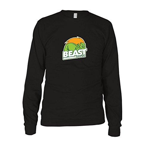 Beast Power - Herren Langarm T-Shirt, Größe: XXL, Farbe: ()