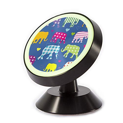 XCOZU - Soporte magnético para teléfono de Coche, diseño de Elefantes Coloridos...