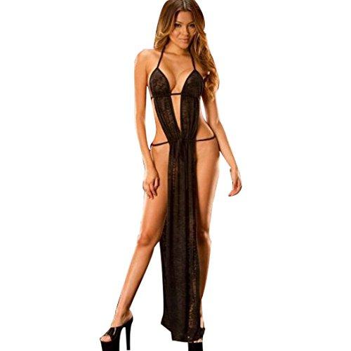 Vovotrade Le nuove donne senza maniche Moda Crop canotte Backless Halter Canotte T-shirt camicetta (S) (Nero)