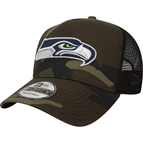 New Era Camo Color Trucker Adjustable Cap Seattle Seahawks Camouflage, Size:ONE Size - Camo Skate Hüte