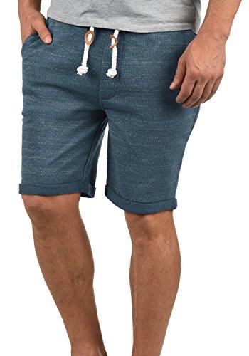 Redefined Rebel Memphis Herren Sweatshorts Kurze Hose Jogginghose aus 100% Baumwolle mit Kordel Regular Fit, Größe:L, Farbe:True Navy