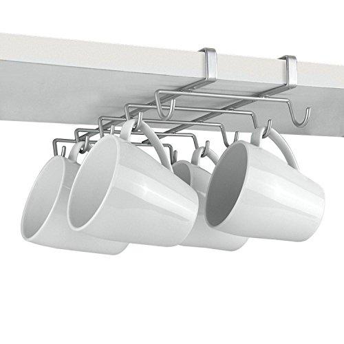 Top Home Solutions® Pulver, silber unter Regalen Tasse Halterung–für 10Tassen