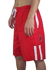 MLB Hommes Los Angeles Angels Athletic Shorts de sport avec Swim Doublure