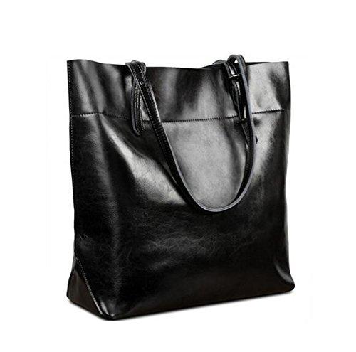 s-lady-design-damen-casual-stil-soft-wachsartig-echtes-leder-tote-schultertasche-handtasche-schwarz