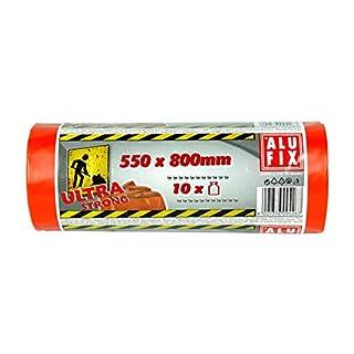 50 Stk. ALUFIX Bauschuttsäcke Schwergut Müllbeutel 70 Liter 550x800mm orange