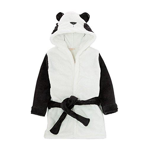 Panda Jungen Kostüme (Cystyle Kinder Junge Mädchen Coral Fleece Morgenmantel Hoodie Cartoon Cosplay Kostüm Bademantel (110/Körpergröße 98-104cm,)