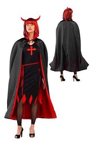 Folat 23723 - Mantello da vampiro rosso e nero per Halloween f639750c2e24
