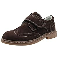 Apakowa Boys Low-Top Leather School Shoes Junior Kids Velcro Formal Dress Smart Casual Shoes for Party Wedding
