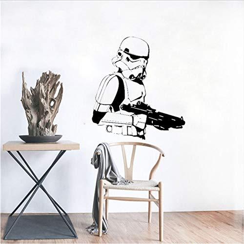 Stormtrooper Wand Vinyl Aufkleber Star Wars Wandaufkleber Wand Kaiserlichen Armee Home Interior Wohnzimmer Decor Abnehmbare Aufkleber 56X62 cm