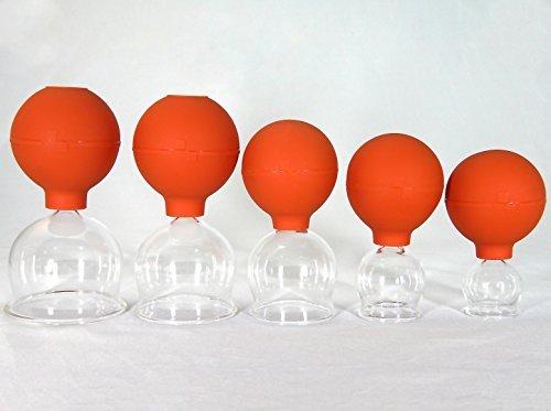 Preisvergleich Produktbild Schröpfglas Schröpfgläser 5 im Set 25-65 mm zum feuerlosen Schröpfen