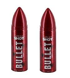 Layerr Shot, Bullet Ammo Deodorant For Men ( Set of 2 )