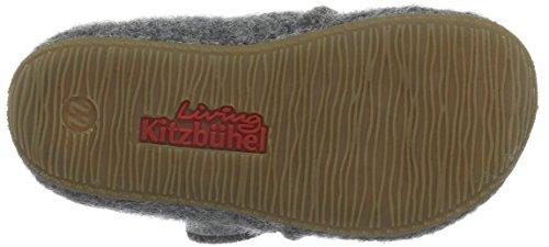 Living Kitzbühel Babyklett Hund Mit Brille Und Pfote, Chaussures Marche Bébé Fille Gris - Grau (Grau 610)