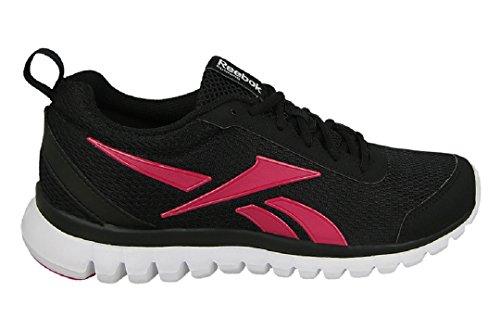 Reebok Sublite Sport, Chaussures de Running Entrainement Femme Multicolore (Black/rose Rage/whit)