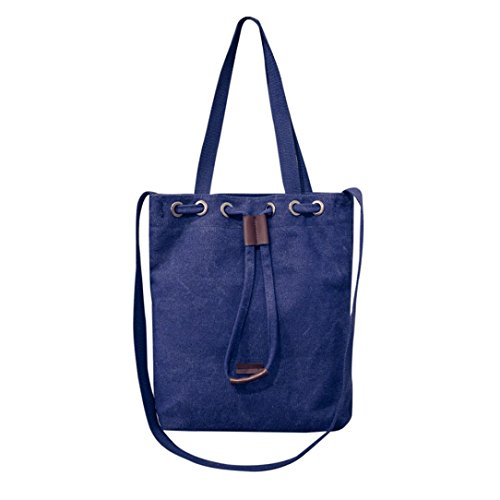 Bolso Bandolera Bolsa de hombro de lona Grande Azul para Mujer y Shoppers por ESAILQ F