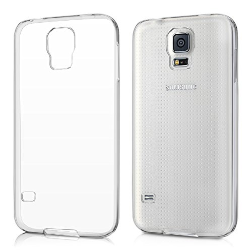 kwmobile Funda para Samsung Galaxy S5/S5 Neo/S5 LTE+/S5 Duos - Case para Móvil en TPU Silicona - Cover Trasero en Transparente