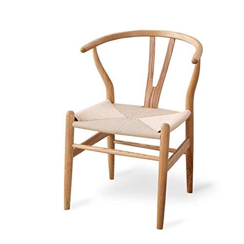 Lvyanfei lvyanfei Kreative Nordic Holz Stuhl Kaffeestube Mode Massivholz Bürostuhl Home Esszimmerstuhl - Zurück Massivholz