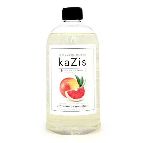 KAZIS I GRAPEFRUIT DUFT I Lampe Berger Raum-Duft Alternative I Parfums de Maison I Nachfüll-Öl (Refill) I 1000 ml I 1 Liter I katalytische Lampe (Duft Refill Wäsche)