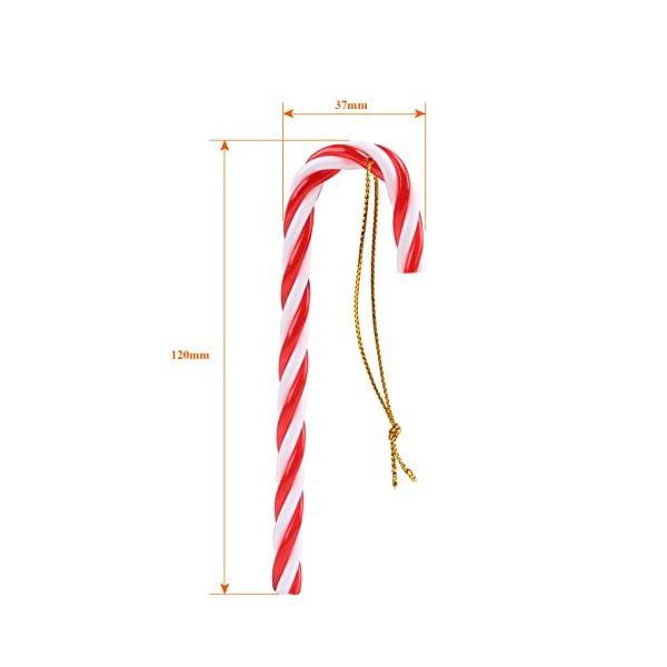 Naler 12PCS plastica Albero di Natale Rosso e Bianco Candy Cane Hanging Wall Home Party Decorazioni Ornamenti 3 spesavip