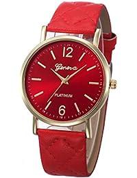 Amazon.es  Rojo - Relojes de pulsera   Mujer  Relojes 6e635d58c379