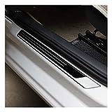 Slewoo Pintura del umbral de la protección del Tablero del Desgaste de la Puerta del Acero Inoxidable de Las Piezas de automóvil Jetta MK6 2011 2012 2013 2014 2015