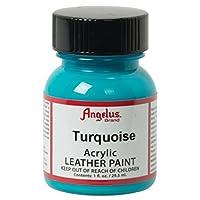 Angelus Acrylic Leather Paint, Turquoise, 1 oz.