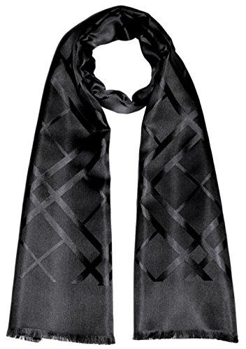 Preisvergleich Produktbild LORENZO CANA Luxus Herrenschal aus 100% Seide aufwändig jacquard gewebt Damast Seidenschal Seidentuch Tuch 25 x 160 cm